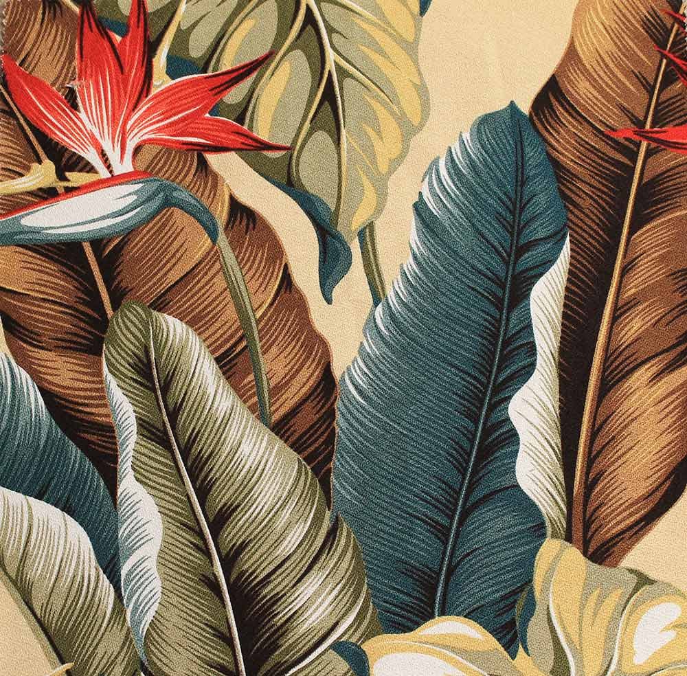 Tropical Print Upholstery Fabric Golfclub