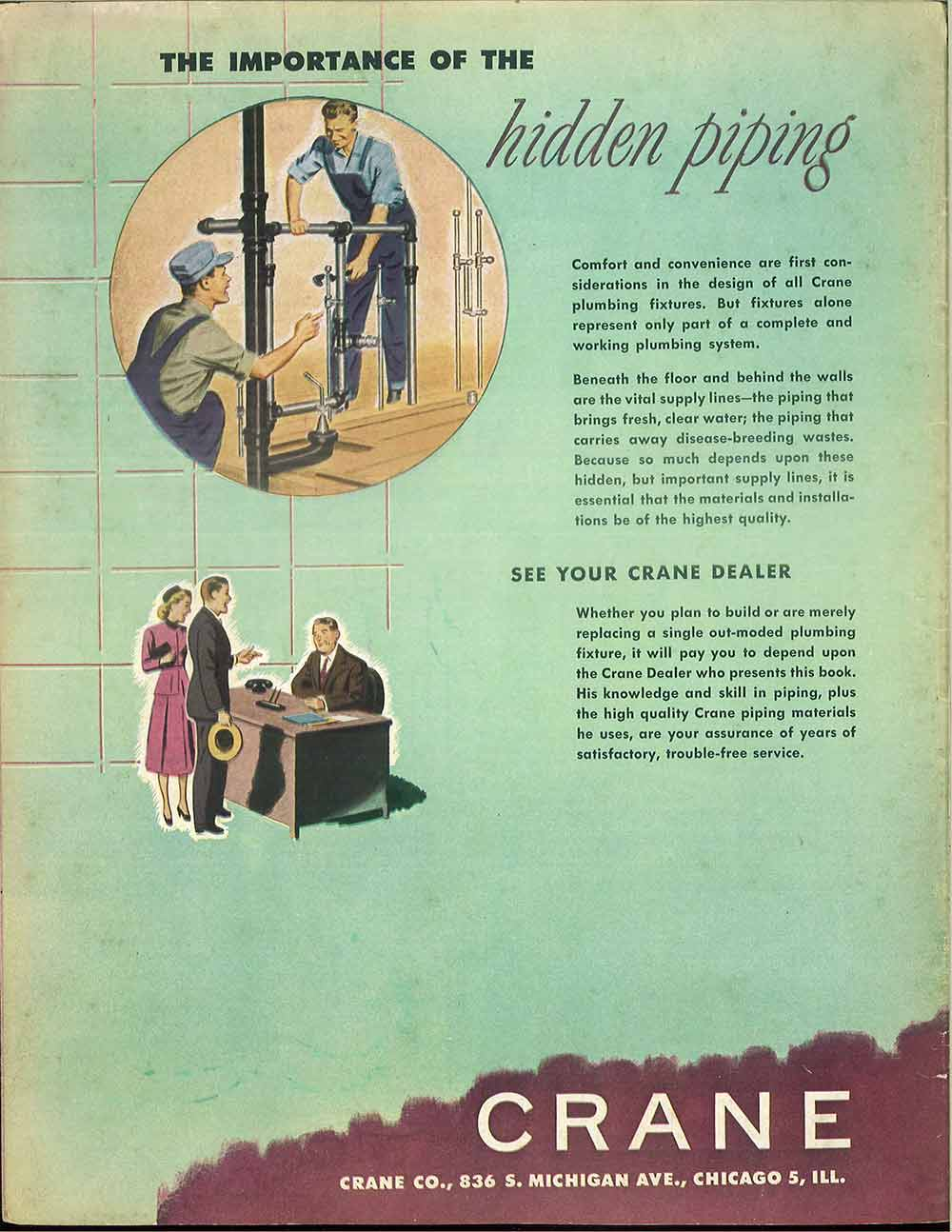 24 pages of vintage bathroom design ideas from Crane - 1949 catalog ...