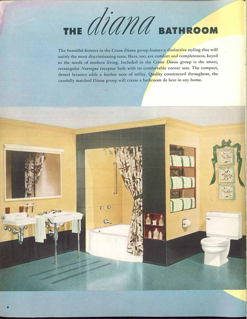 Peach Crane Bathroom 1940