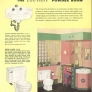 pink and green vintage retro bathroom
