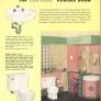pink and green vintage retro bathroom