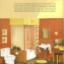 vintage orange and yellow crane bathroom