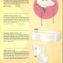 vintage retro Crane sink tub toilet