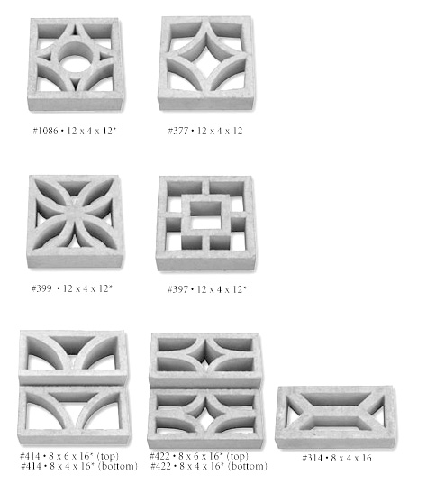 422 concrete screen block tileco - Decorative Concrete Block