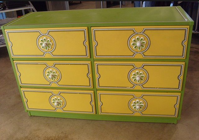 Flower power 1960s Drexel Plus One bedroom set  Retro Renovation - 1960s Bedroom Furniture