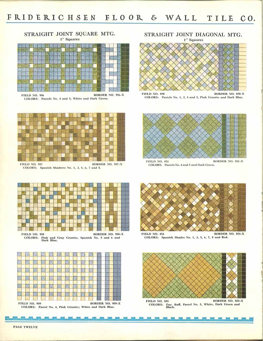 112 patterns of mosaic floor tile - in amazing colors ...