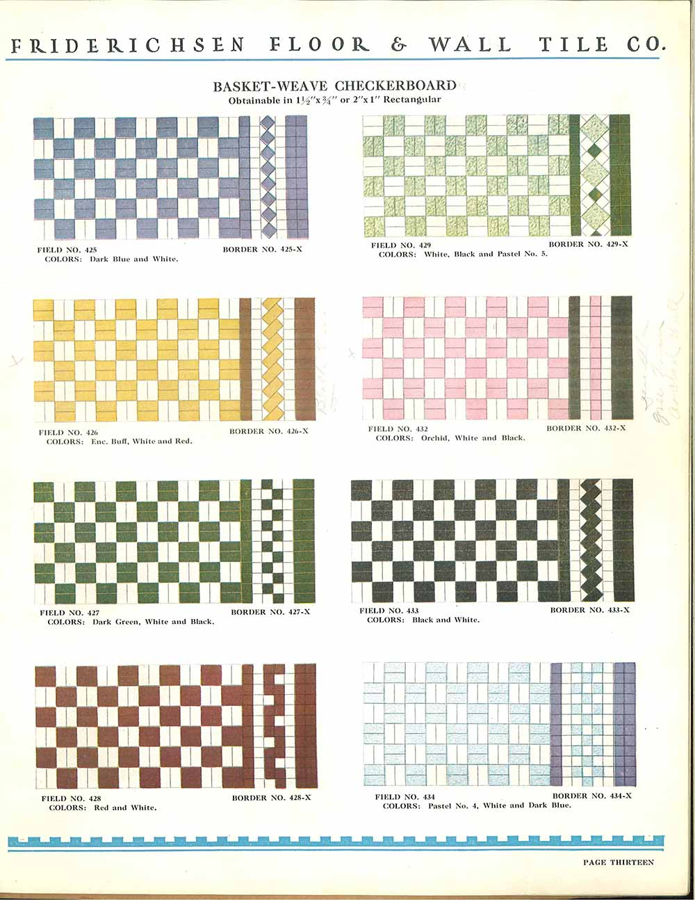 Vintage Floor Tile Patterns And Colors 1930s