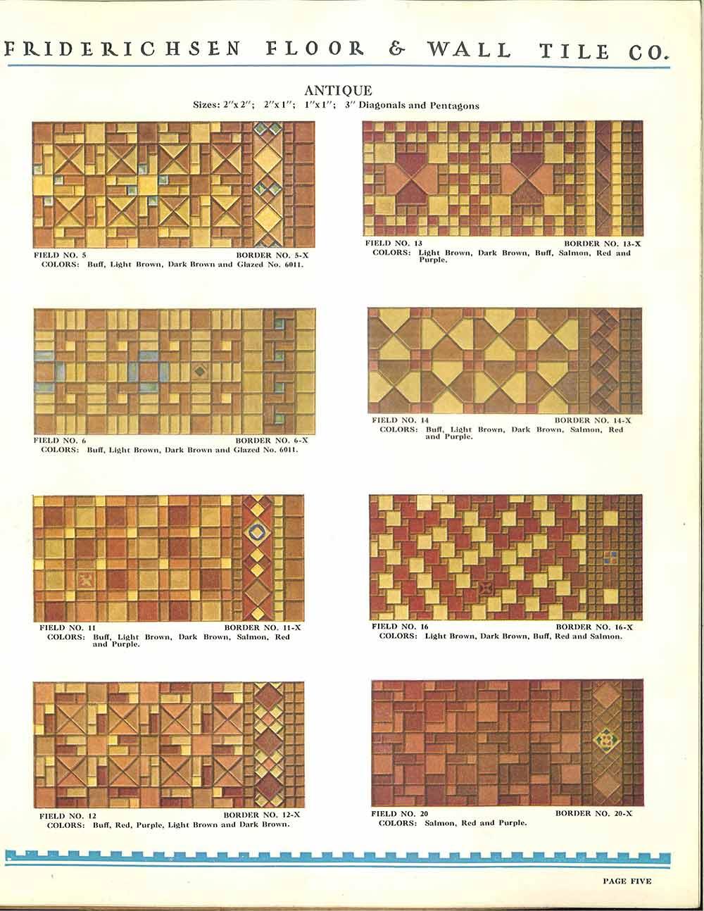 Patterns For Ceramic Floor Tiles Vintage