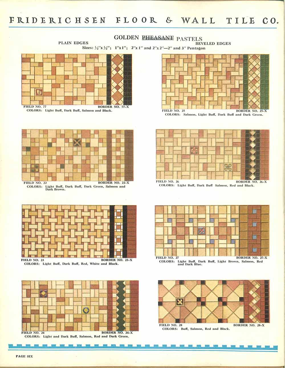 112 patterns of mosaic floor tile in amazing colors vintage ceramic floor patterns for ceramic tile 1930s dailygadgetfo Gallery