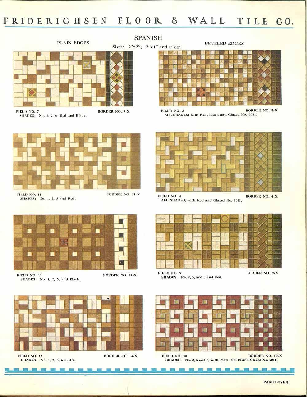 vintage ceramic floor patterns for ceramic tile 1930s - Tile Floor Patterns
