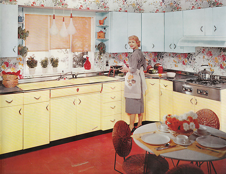 Medium image of 1950s metal kitchen cabinets
