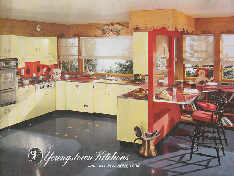 13 pages of youngstown metal kitchen cabinets retro for Kitchen cabinets youngstown ohio