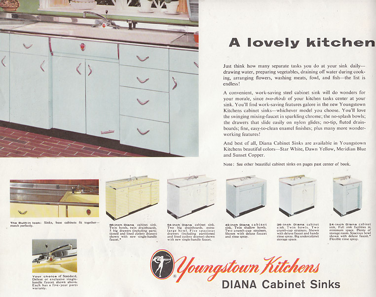 Kitchen Cabinets Catalog 13 pages of youngstown metal kitchen cabinets - retro renovation