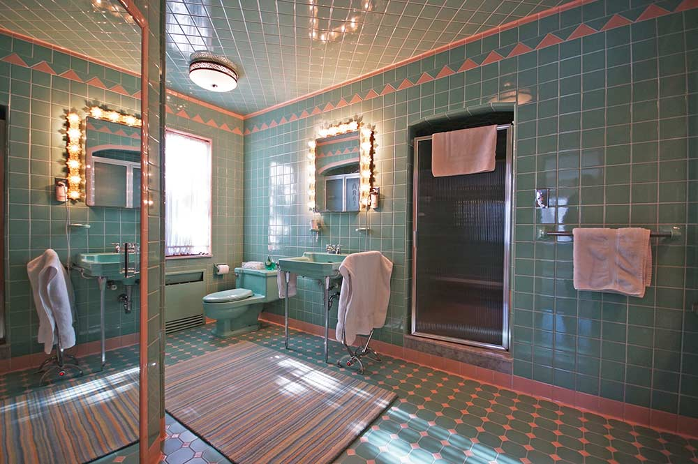 1950 time capsule house with 7 vintage bathrooms grosse point park mich retro renovation On 1950s bathroom