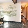 mid-century-dining-room-with-wall-mural