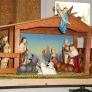 vintage wooden manger