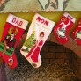 christmas stockings made from vintage kits