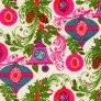 vintage wrapping paper colorful ornaments
