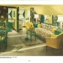Green and Yellow 1940s living room