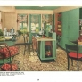 green and red 1940s kitchen