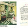 green and white vintage bathroom 1940s