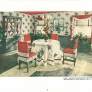 vintage red and white 1940s kitchen
