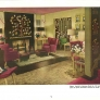 1940s living room decorated