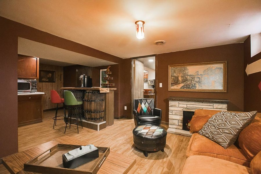 whiskey barrel a go go inside trixi and jon 39 s retro genius midcentury modest house retro. Black Bedroom Furniture Sets. Home Design Ideas