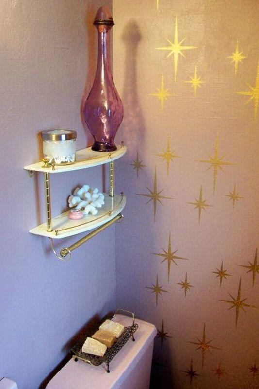 Pink And Gold Bathroom. Karen Spends 708 To Create A Delightful Pink Bathroom Retro