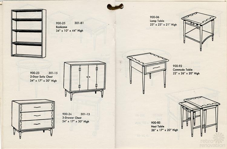 Vintage Lane Acclaim Catalog   Showcasing 48 Pieces In This Classic  Furniture Design Favorite   Retro Renovation
