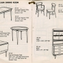 mid century lane-acclaim tables, chairs and hutch