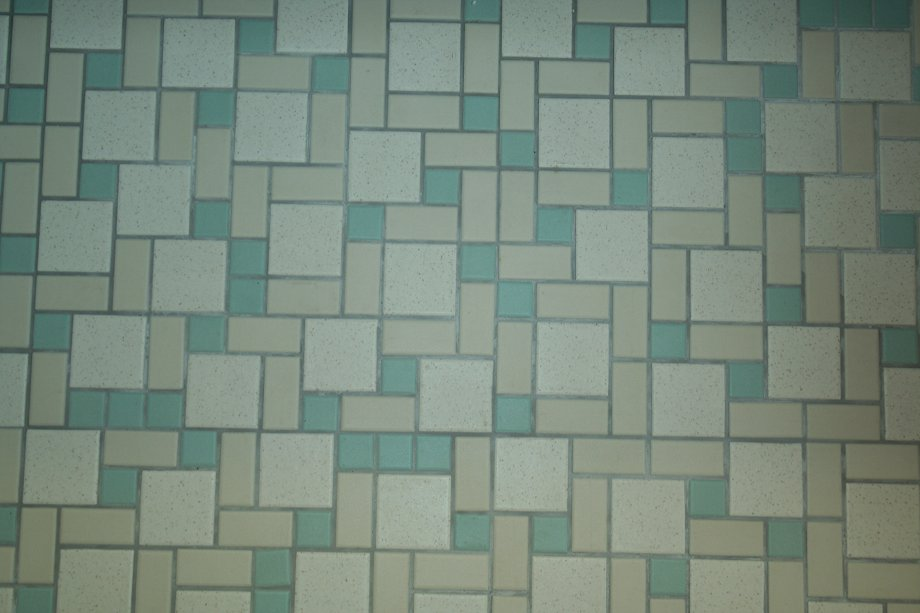 Colorful Mosaic Floor Tiles Highlight Laurens Mid Century Bathroom
