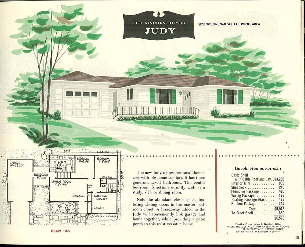 Vintage ranch house floor plans for 1960 ranch house plans