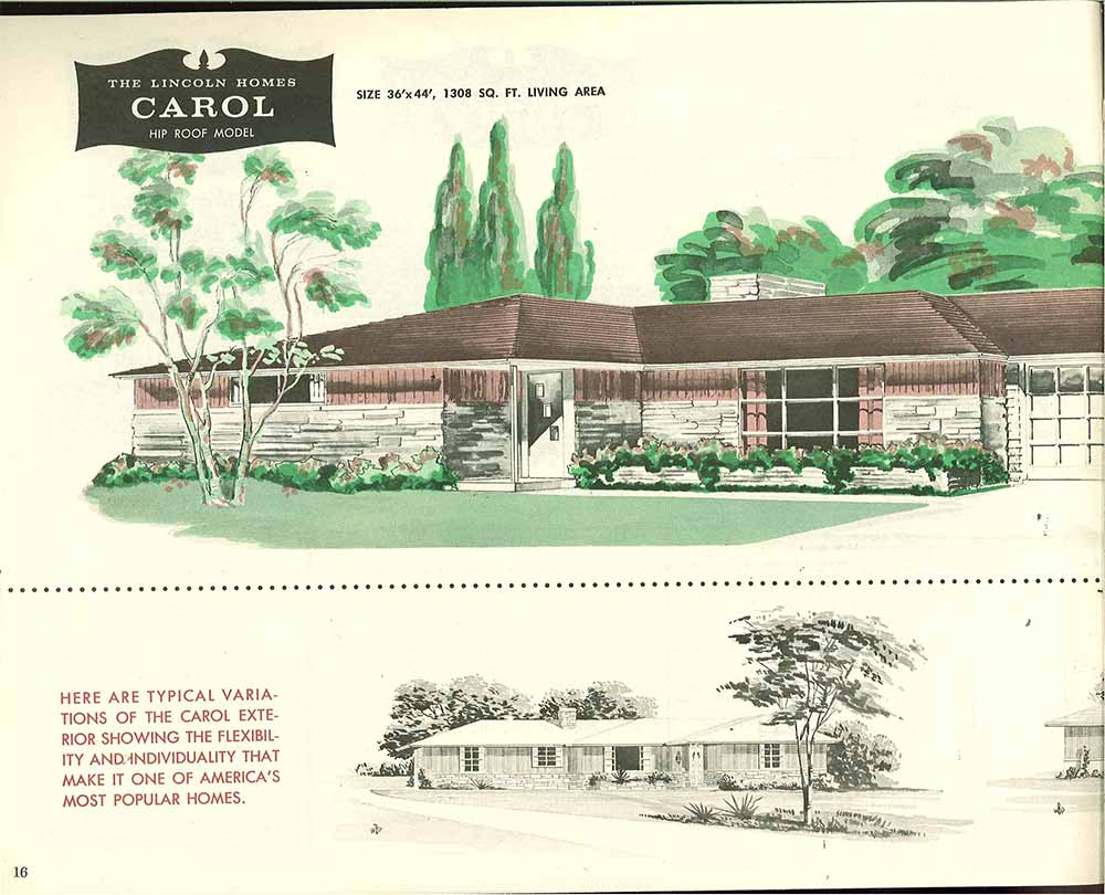Factory Built Houses 28 Pages Of Lincoln Homes From 1955 Retro Renovation
