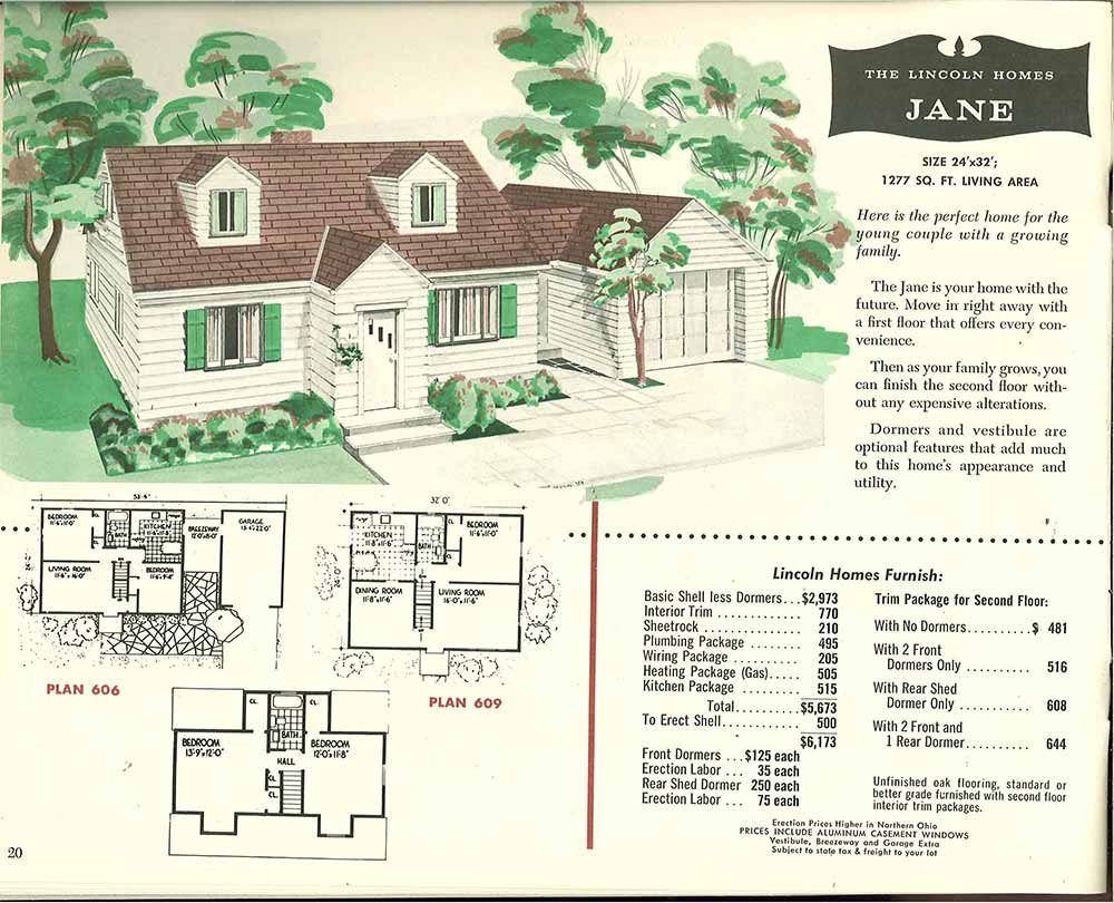 cape cod vintage exterior white - 1950s Modern House Floor Plans