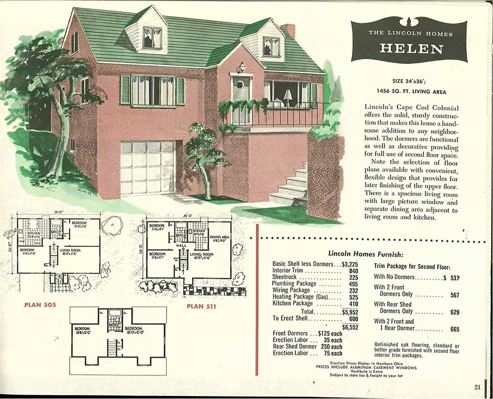 brick split level house retro - The Redwood House Plans 1960s