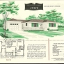 vintage ranch house drawing