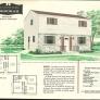 retro two story house