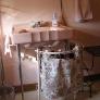 vintage homart pink bathroom sink by sears