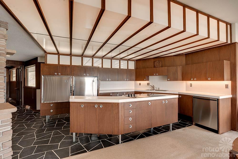 mid century retro modern kitchen