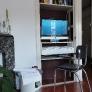 desk built into closet