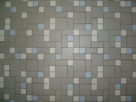 A Mid Century Bathroom Featuring Vintage Decorative Tiles