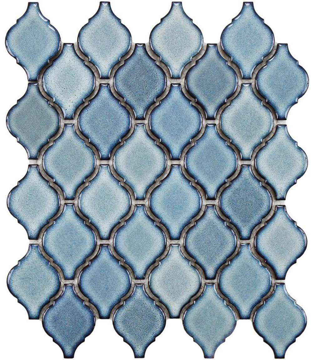 merola arabesque tile blue gray