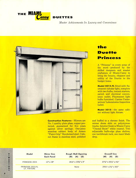 42 vintage medicine cabinets from miami carey circa 1955 retro rh retrorenovation com Bathroom Medicine Cabinets with Lights Miami Carey Products
