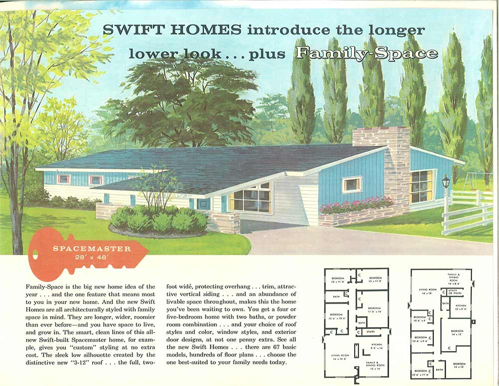 Terrific Curb Appeal Ideas From Swift Homes 1957 House Plans Catalog Retro Renovation