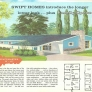 1960s ranch house exterior illustration