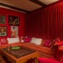 retro-orange-and-pink-sofa