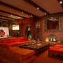 vintage-orange-sectional-couch