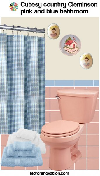 99 ideas to decorate a pink bathroom complete slide show for Pink and blue bathroom ideas