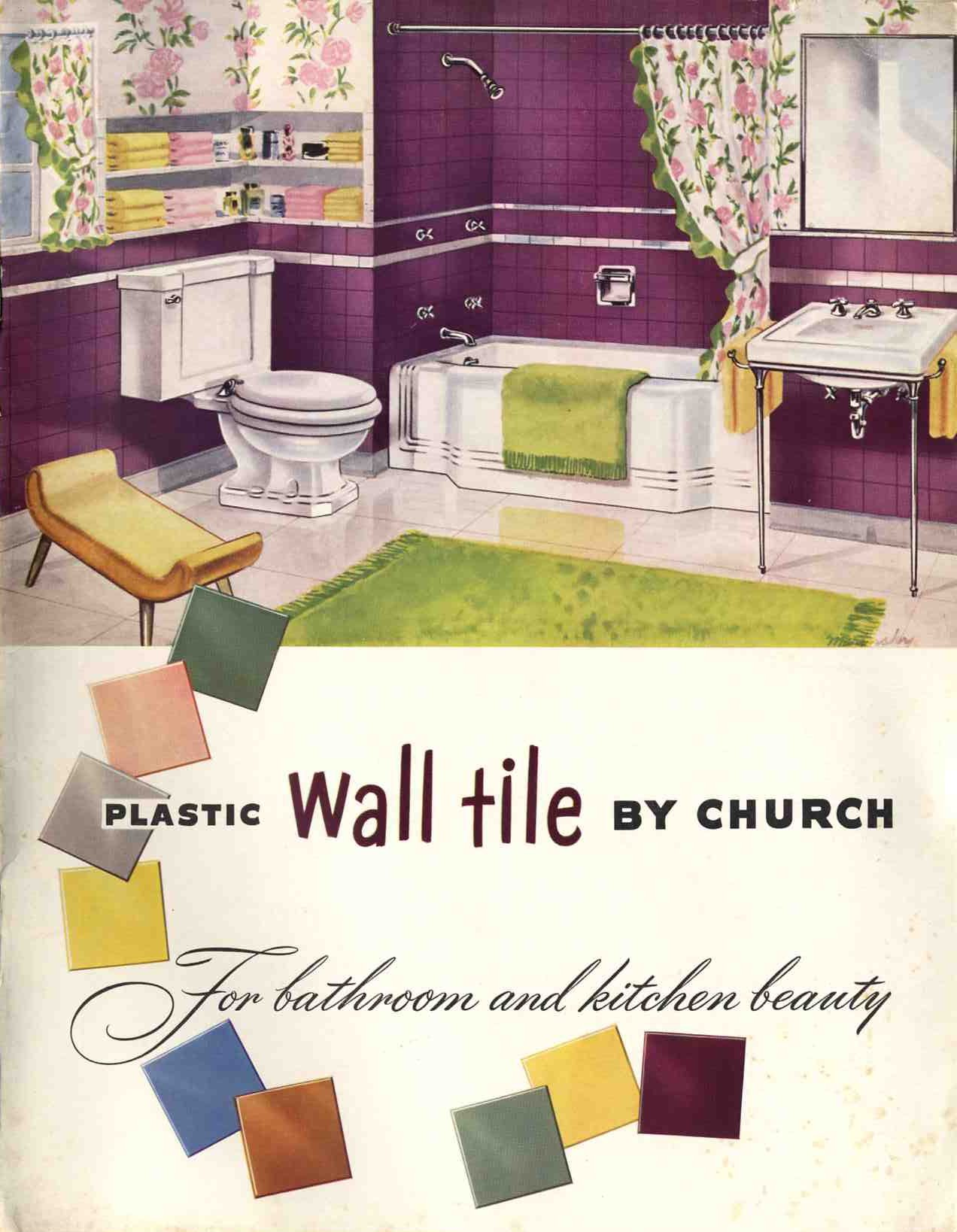 Plastic Bathroom Tile 20 Pages Of Images From 3 Catalogs Retro Renovation